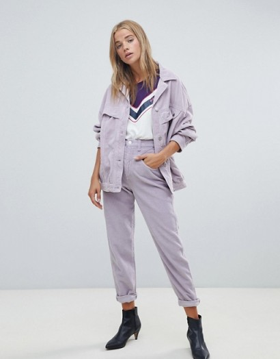 Wrangler tapered cord jean Lavender frost – lilac cords