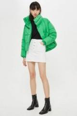 TOPSOP Green Wrap Puffer Jacket ~ Autumn padded coats
