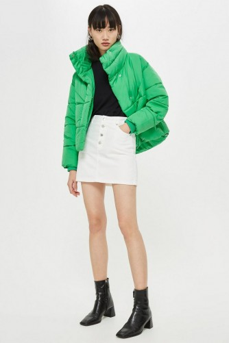 TOPSOP Green Wrap Puffer Jacket ~ Autumn padded coats