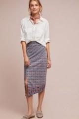 Akemi + Kin Yana Printed Midi Skirt | side slit skirts
