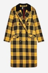 Topshop Yellow Tartan Coat | autumn colours