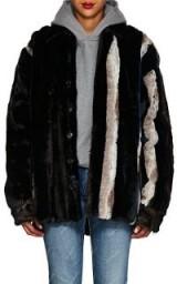Y/PROJECT Striped Faux-Fur Jacket ~ luxe winter coat