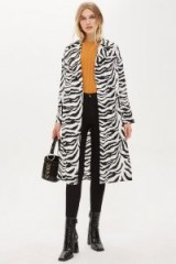 Topshop Zebra Print Duster Jacket | mono animal prints