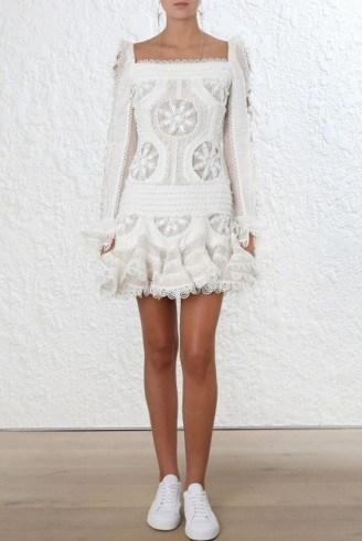 Zimmermann Whitewave Doily Dress - flipped