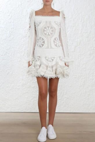 Zimmermann Whitewave Doily Dress