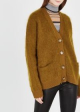 ACNE STUDIOS Rives brown mohair-blend cardigan ~ slouchy cardi
