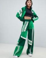 adidas Originals X Danielle Cathari Deconstructed Track Pants In Green | wide leg sports pants