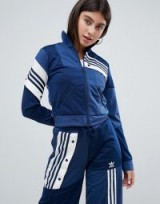 adidas Originals X Danielle Cathari Deconstructed Track Top In Navy | blue sports jackets