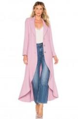 Alexis DEVEREAUX COAT in Mauve – chic longline coats