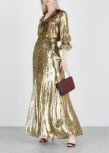 ALICE + OLIVIA Athena leopard-print silk-blend maxi skirt | glamorous metallic skirts