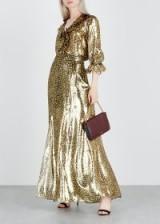 ALICE + OLIVIA Athena leopard-print silk-blend maxi skirt | glamorous metallic skirts