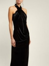 NORMA KAMALI All-in-one black velvet maxi dress ~ multi-way evening dress