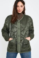 Alpha Industries ALS Olive Liner Jacket in Green – military style quilted jackets