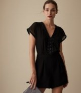 REISS ARLO EMBELLISHED PLAYSUIT BLACK ~ glamorous evening wear