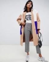 ASOS DESIGN colourblock coat – contemporary design outerwear