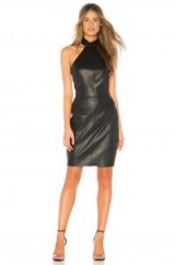 Bailey 44 VIG ECO LEATHER DRESS in Black – leather-look party dress – glamorous lbd