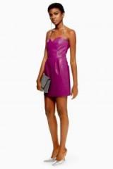 TOPSHOP Purple Bandeau Mini Dress – strapless party dresses