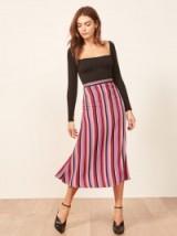 Reformation Bea Skirt in Luisa | striped midi