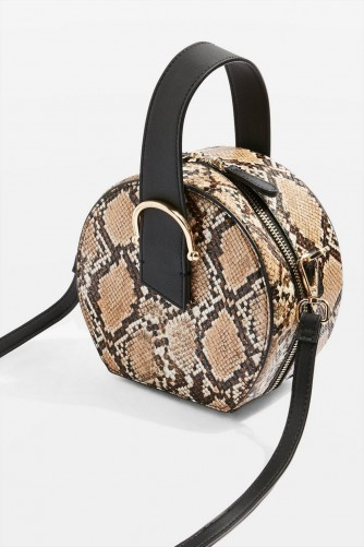 Topshop Carolina Snake Print Cross Body Bag | small reptile print crossbody
