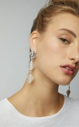 Lulu Frost Cascadia Crystal Drop Earrings ~ statement style accessory