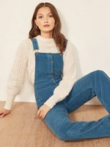 Reformation Cassidy Overall Rain ~ blue cord dungerees