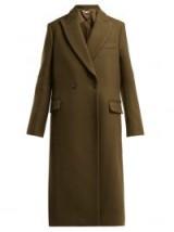 STELLA MCCARTNEY Catherine double-breasted green wool coat ~ classic overcoat