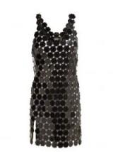PACO RABANNE Chainmail sequin mini dress   retro fashion   LBD