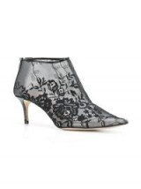 CHRISTOPHER KANE plastic lace ankle boot in black – sheer floral booties