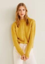MANGO Chunky-knit yellow sweater