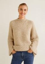 MANGO Chunky-knit sweater in Ecru – FIELD | oversized neutral jumper