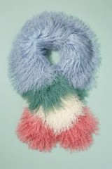 Anthropologie Colourblocked-Textured Scarf | multicoloured shaggy winter scarves