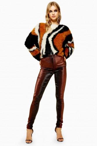 Topshop Copper Lurex Joni Jeans | retro denim skinnies
