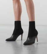 REISS KNITTED ANKLE BOOTS BLACK ~ contemporary booties