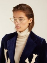 GUCCI Crystal-embellished cat-eye glasses ~ luxe eyewear