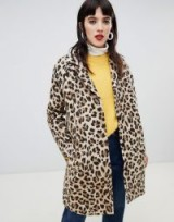 Custommade Oversized Leopard Coat in 544 pumpkin spice – animal print coats