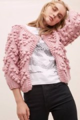 Foxiedox Dina Bobble-Stitch Cardigan in Pink / sweet textured cardi