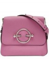 JW ANDERSON Disc Bag in Camellia – pink flap shoulder bag