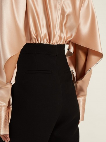 ROKSANDA Ellia gathered satin and crepe jumpsuit ~ split sleeve detail