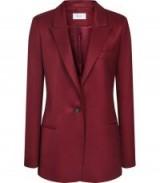 FREJA BOYFRIEND FIT BLAZER BERRY ~ dark-red tailored jacket