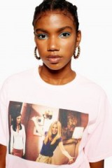 TOPSHOP Friends Photo T-Shirt in Pale Pink / graphic tee