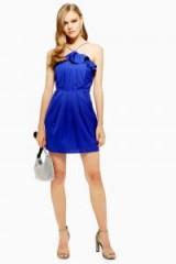 TOPSHOP Frill Jacquard Mini Dress in Purple – thin strap party dress