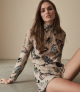 REISS GAIL BUTTERFLY PRINTED PLAYSUIT ~ feminine prints