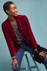 ett:twa Gallery Velvet Blazer Raspberry ~ dark-pink jacket