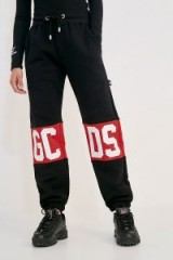 GCDS Classic Black Sweatpants in Black – cuffed logo joggers
