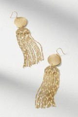 Anthropologie Golden Light Drop Earrings | glamorous party jewellery