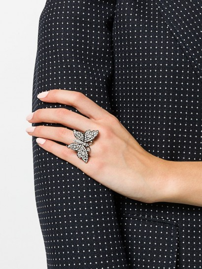GUCCI Butterfly crystal ring