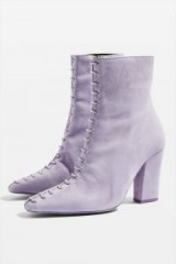 TOPSHOP HARRIET Lilac Lace Boots