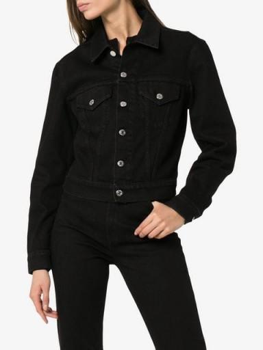 HELMUT LANG mens fit boxy denim jacket in black