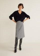 MANGO Houndstooth skirt – CAMIS | asymmetric cross over skirts