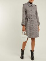 REDVALENTINO Houndstooth trench coat / checked coats